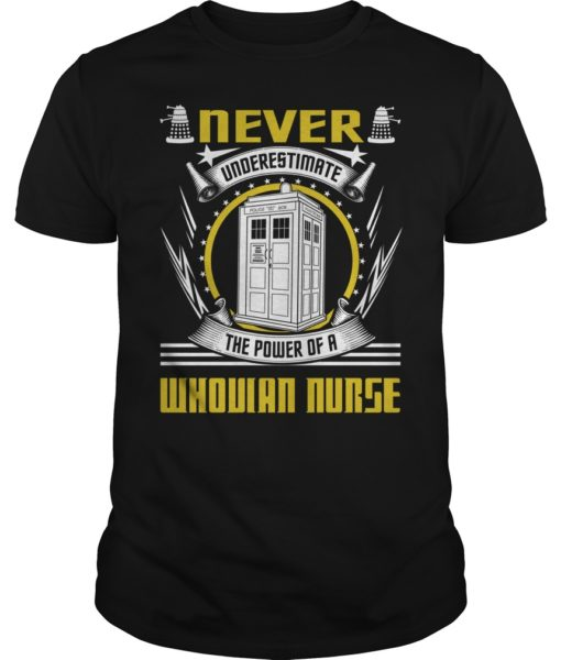 Never Underestimate the Power of a Whovian Nurse Shirt