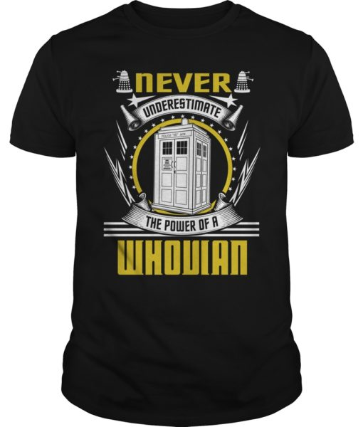 Never Underestimate the Power of a Whovian Shirt